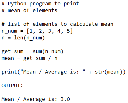 Find Mean, Median and Mode without Libraries in Python for Data Science