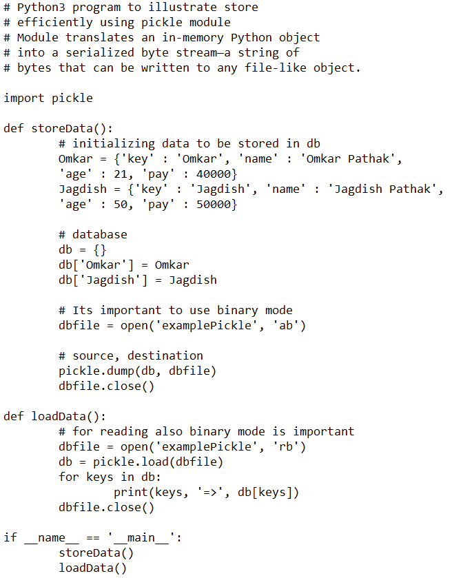 Python Pickling with Example for Data Science - PST Analytics